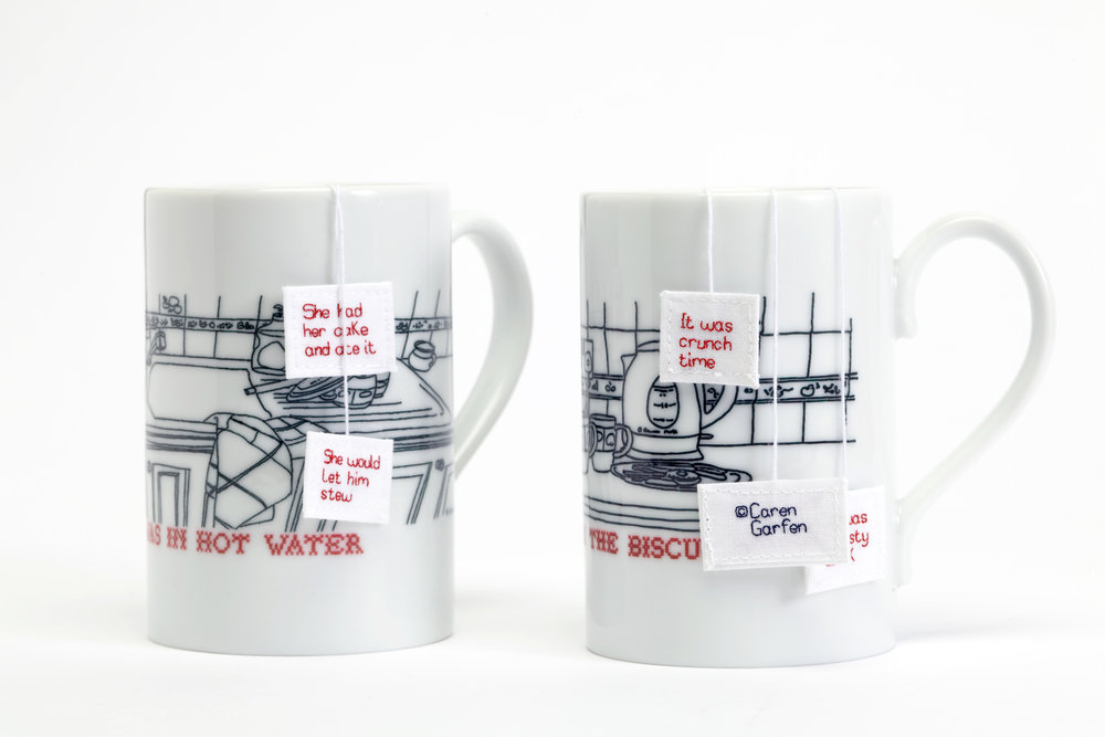 Limited edition mugs with 'teabags' (sold out)