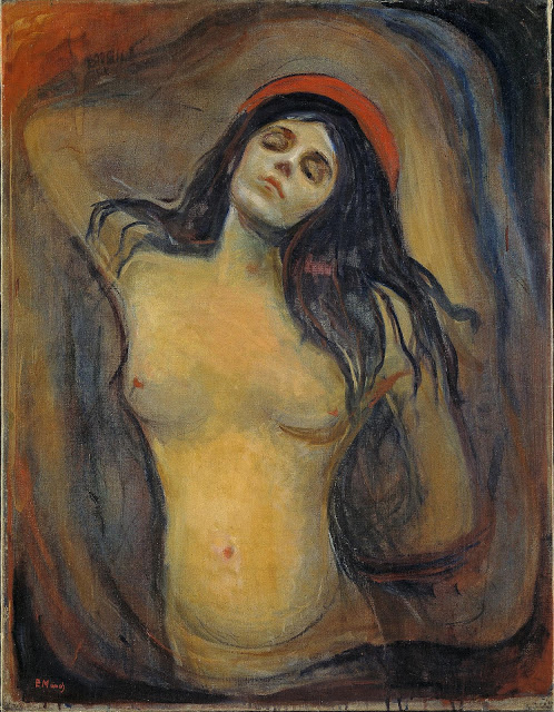 Edvard Munch: Madonna, 1894–95, olej na plátně, 90,5 x 70,5 cm. Zdroj:  Norské národní muzeum