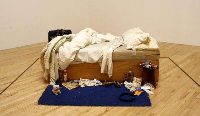 Tracey Emin, My bed, 1998. Zdroj: Lucia Heverová v Tate Britain, July 2015