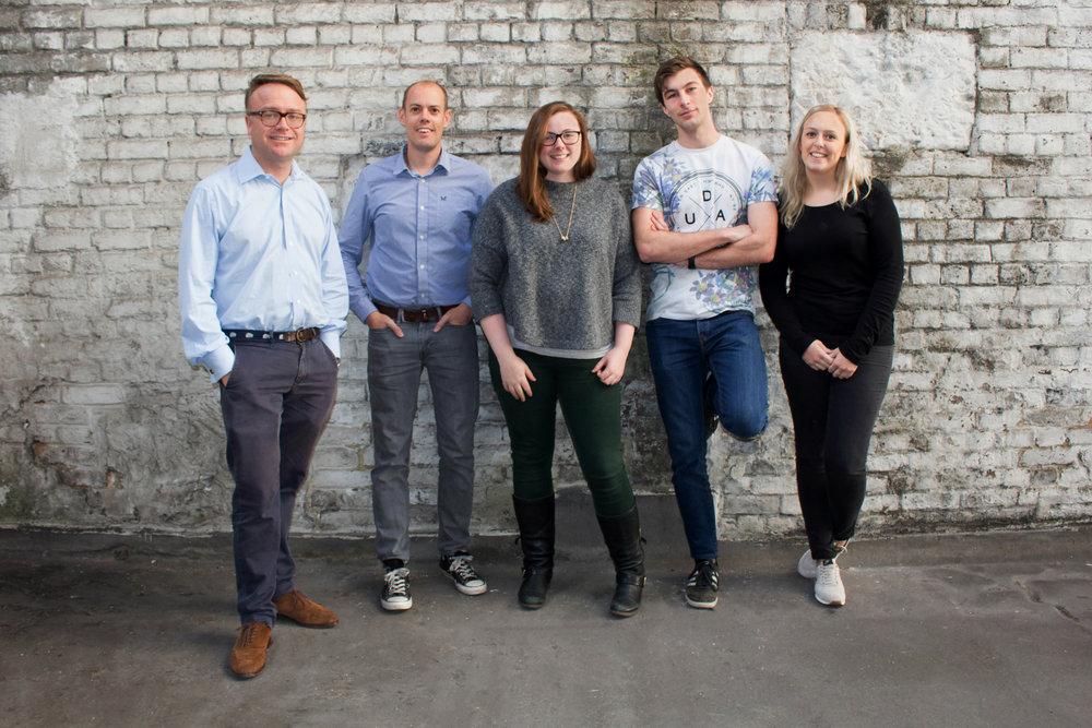 The Team: James, Tom, Grace, Edward and Jess