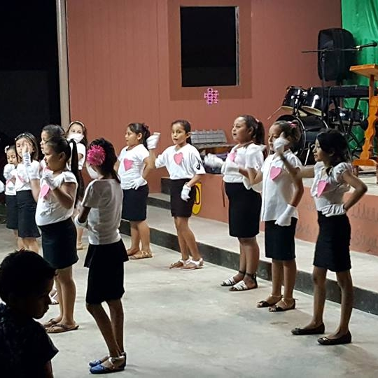 The children and youth put on performances every night at church for the team
