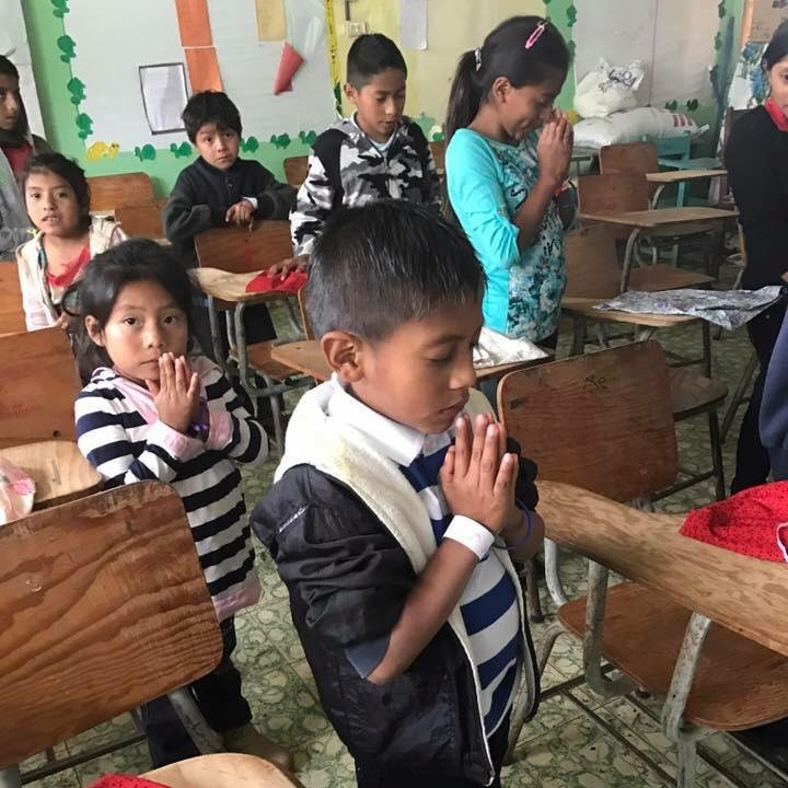 Praying in children's church