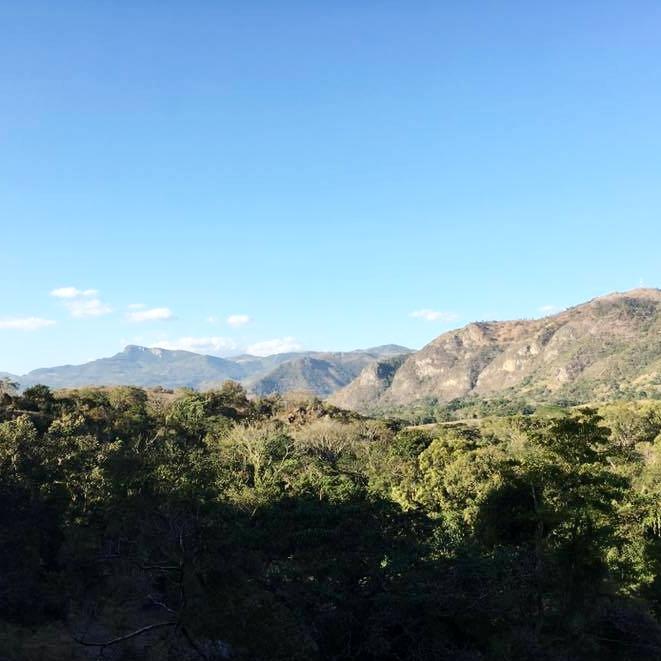 View on the way to Santa Cruz