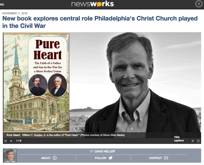 Listen: Broadcast on Friday, November 11, 2016, William F. Quigley, Jr. discusses   PURE HEART   on Philadelphia's    WHYY-FM  NewsWorks Tonight with Host David Heller   .