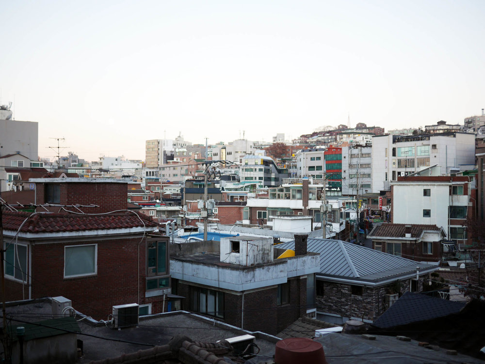 Fim de tarde na parte baixa de Itaewon