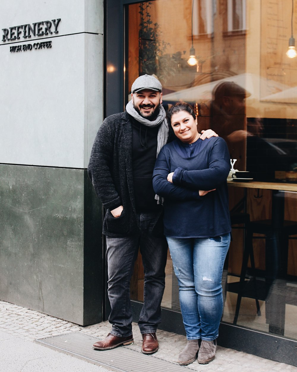 @a_uste / @thomas_k / Bora and Tansel Özbek, co-owners of Berlin's Refinery High End Coffee.