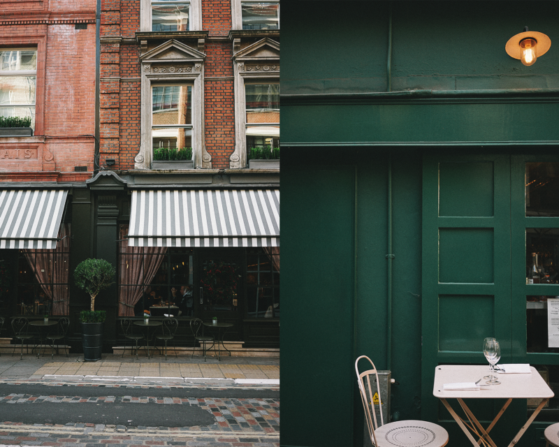 Westminster is all about English Victorian and Gothic style perfection. Covent Garden instead calls for your attention with squeezed boutique style houses framed in deep savory colors.