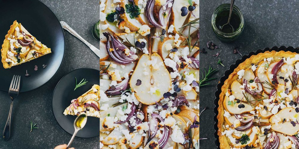 THREE / Wild Herb & Pear Tarte