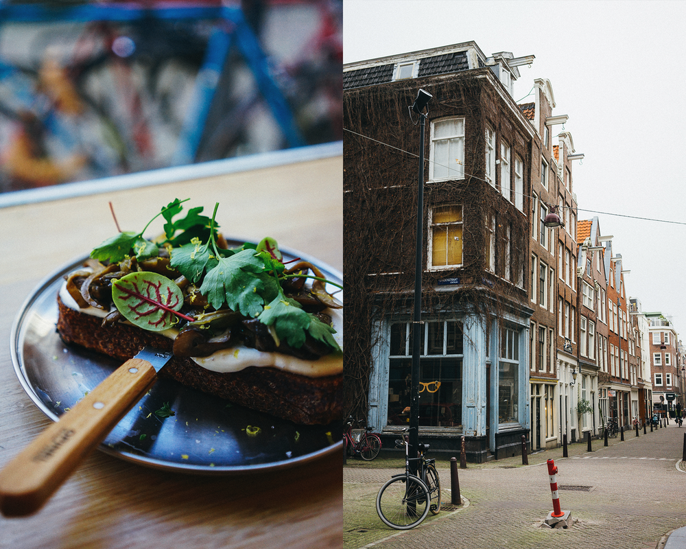 Over mushroom truffle-mayo toast and two cortados, the real Amsterdam vibe revealed itself to us right upon arrival.