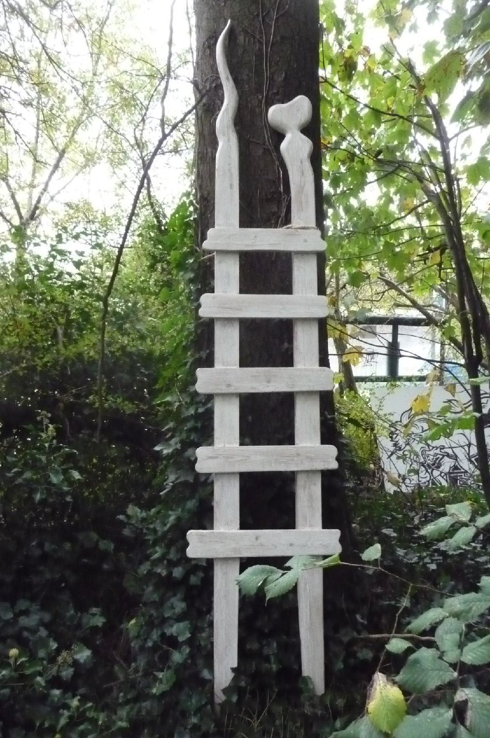 Cloud Gazer. by day. Ladder Sculpture by Tony Eastman.jpg