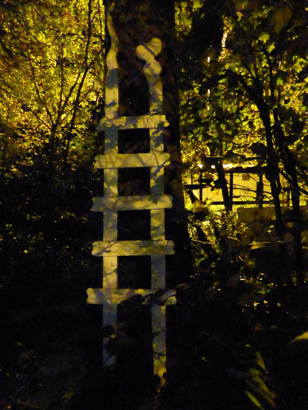 Cloud Gazer by night. Ladder Sculpture by Tony Eastman.jpg