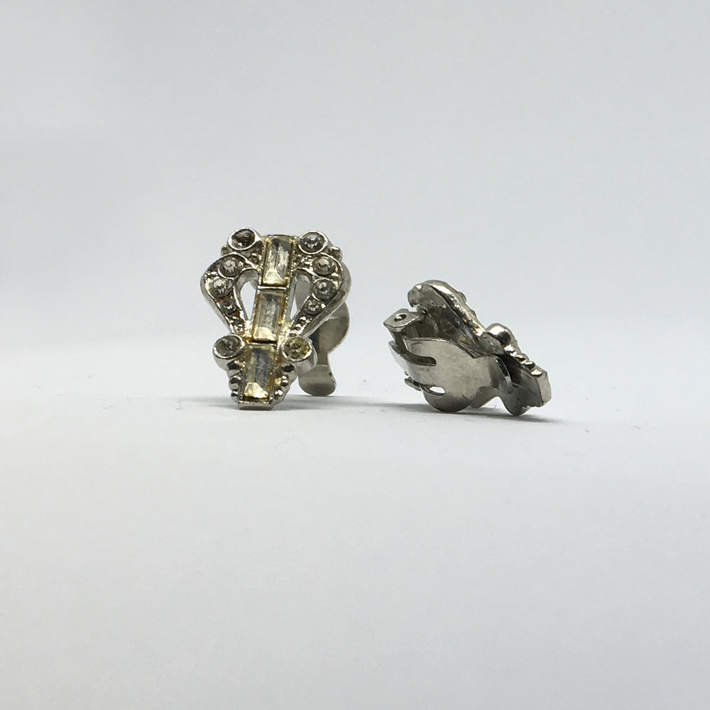 Art Deco Diamante Earrings (clip fastening) £15