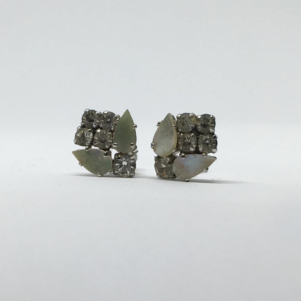 Diamante Flower Earrings (clip fastening) £15.00