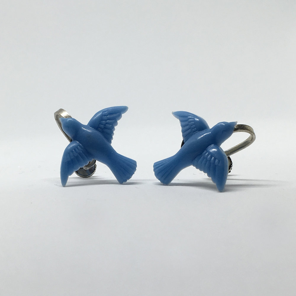 Blue Bird Earrings (screw fastening) £9.00