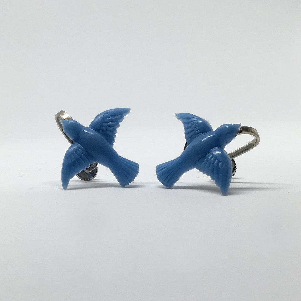 Blue Bird Earrings (screw fastening) £9.00