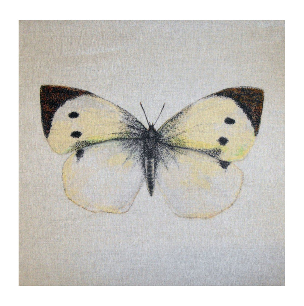 Butterfly (Cabbage White) - Linen