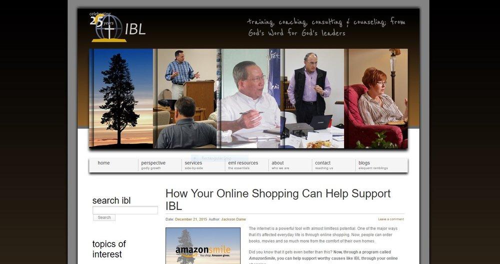 old ibl website