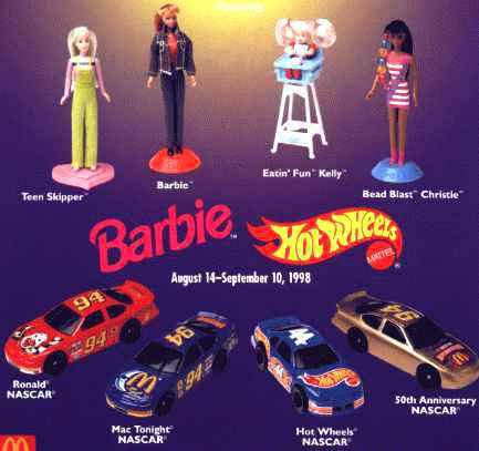 1998: The doll stands suggest that these were for displaying, not for playing.