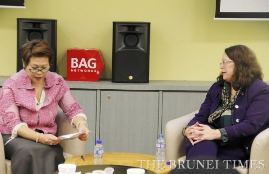 Brunei Accenture Group Networks (BAG). Lucie interviewed by CEO Haslina Taib (with group Q&A)