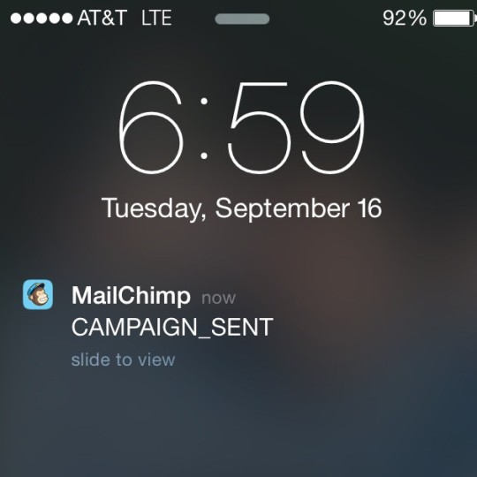 MailChimpCampaignSent