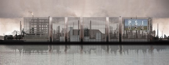 My graduate project—a winery that filters out waste gases for the production of wine and displays the contaminants on its facade contesting the Pollutant Standard Index.