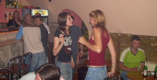 Partying underground with co-workers in Cluj-Napoca, Romania circa 2007