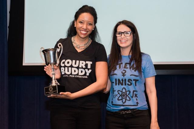 Kristina Jones (left) with Denyse Cardozo, Executive Director of Silicon Valley Forum