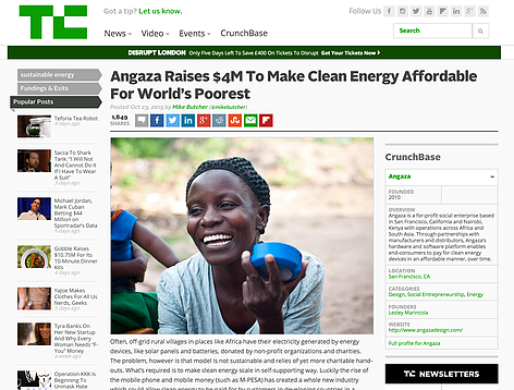 Angaza's technology platform allows manufacturers and distributors to make energy products affordable to 1 billion off-grid consumers.