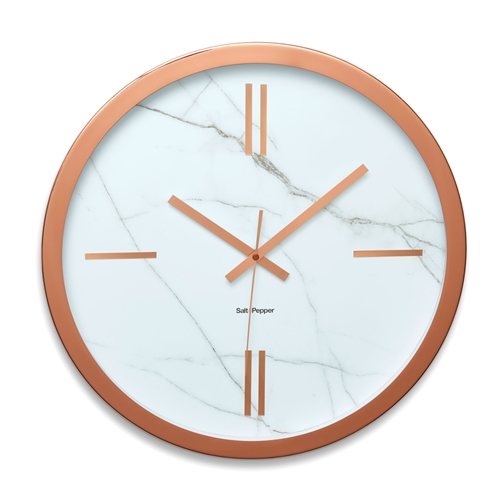 zone wall clock rose gold and marble.jpg