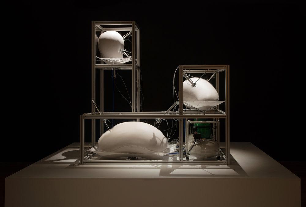 2Harrison Pearce, Defence Cascade, Silicone, aluminium, pneumatics, 186 x 180 x 120, 2018.jpg