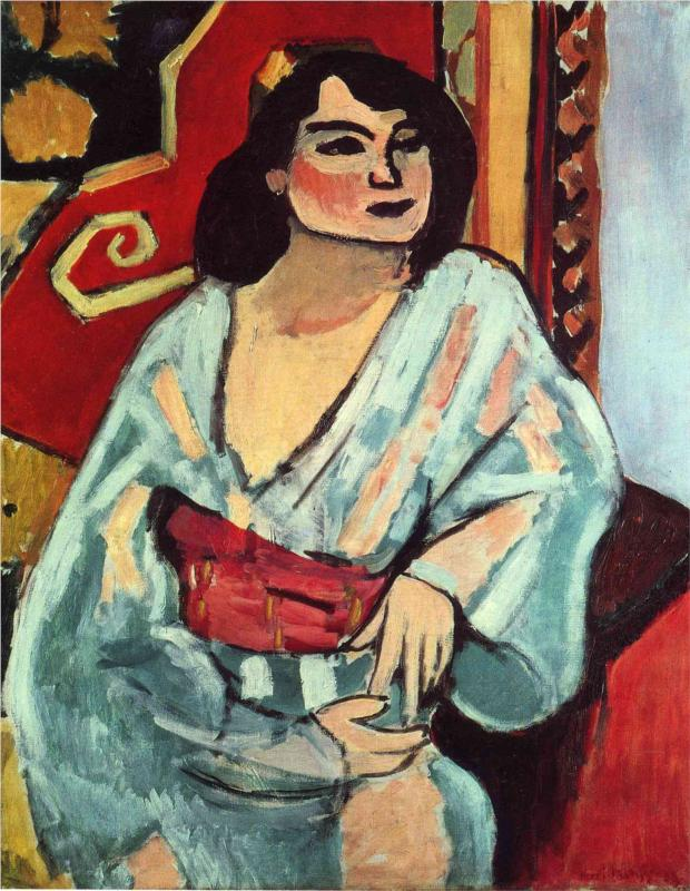 This Algerian woman painted by Matisse appears to have melasma, possibly triggered by exposure to the strong Mediterranean sun in the dry hot summer the region is known for.