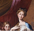 Parmigianino's Madonna with the long neck, the neck here painted thus to signify femininity, strength and holiness.