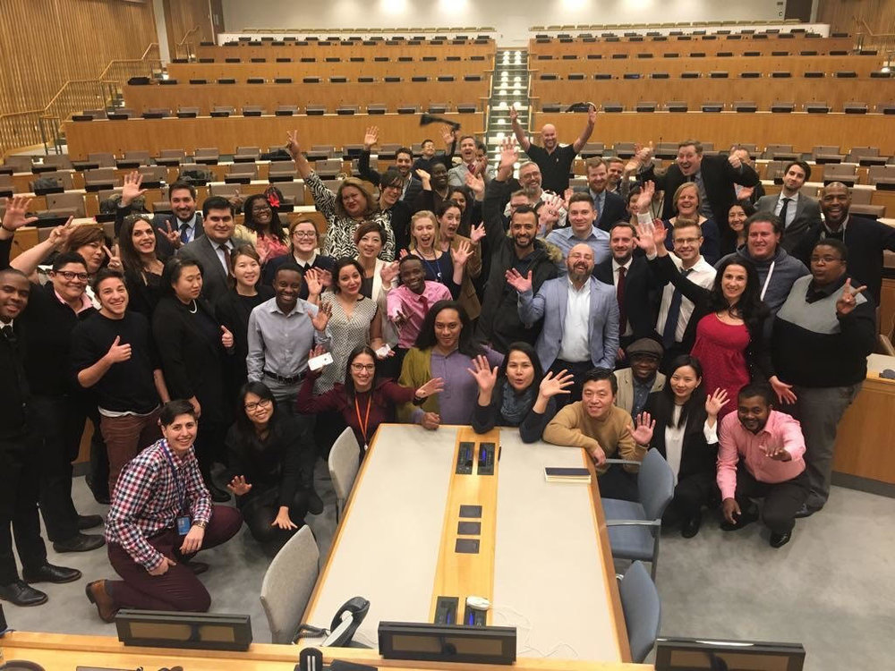 Founder and Executive Director Alexander Beryzokin participated in  OutRight Action International 's UN Advocacy Week and OutSummit in New York City, USA (2-9 December 2017). There are participants of the Advocacy Week from 45 countries, including an intersex activists from the USA, Australia, Serbia, Thailand.