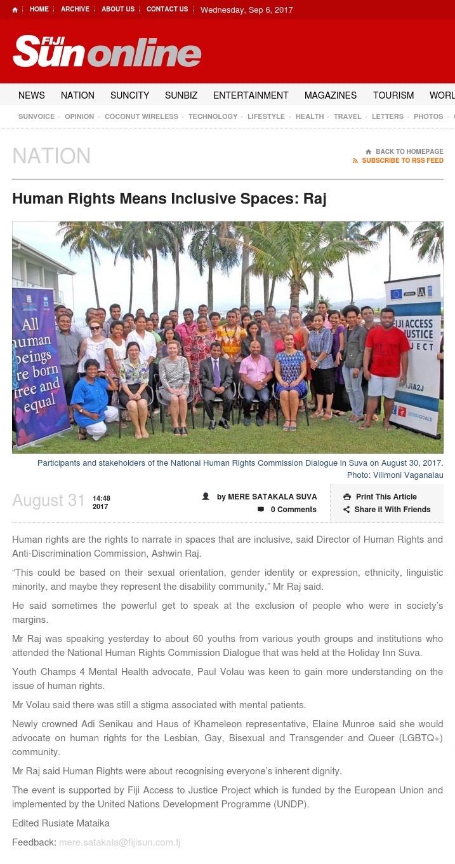 FIJI SUN LinK: August 31, 2017