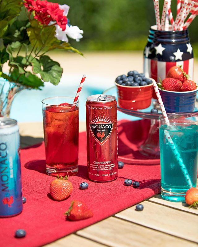 Monaco getting 🇺🇸Red, White & Boozed🇺🇸 this 4th of July🎊 #drinkmonaco #4thofjuly
