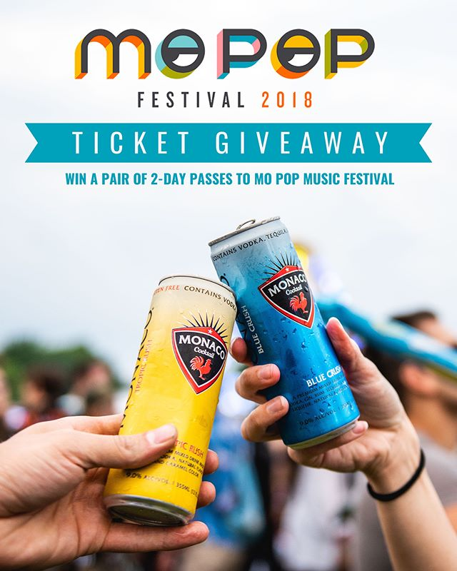 🎟We're giving away a pair of 2-day passes to Mo Pop!  TO ENTER-  1)  Like this photo 2)  Follow @drinkmonaco  3)  Tag 3 of your friends in the comments  #drinkmonaco