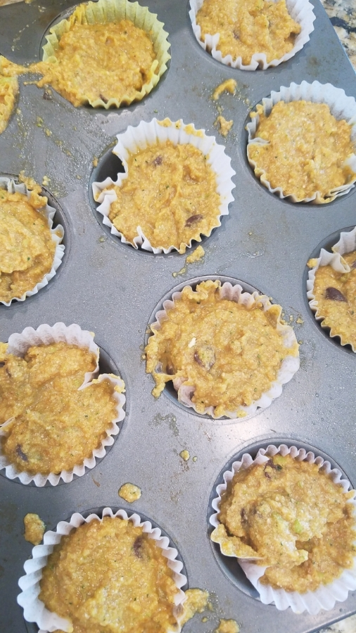Remember to let the kids help out! They NEED to know that they have veggies in their food and that it tastes good. None of this hiding it and not telling them.. not fair. Things might get messy like our muffin tin did but the kids had FUN! P.S. They're never too young to help you!