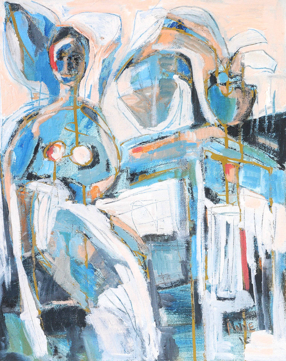 Figure in Blue | Oil on Canvas