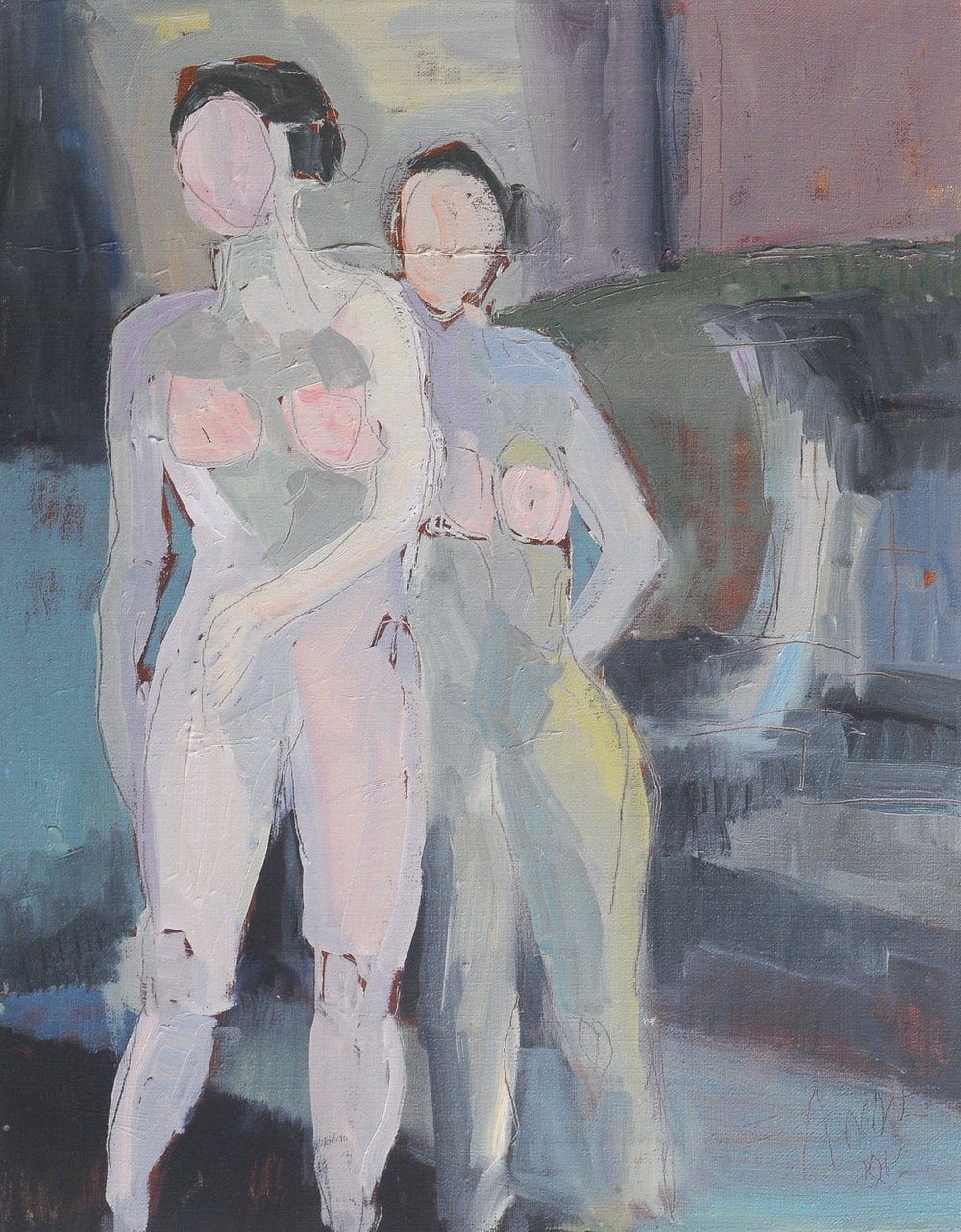 Standing Figures | Oil on Canvas