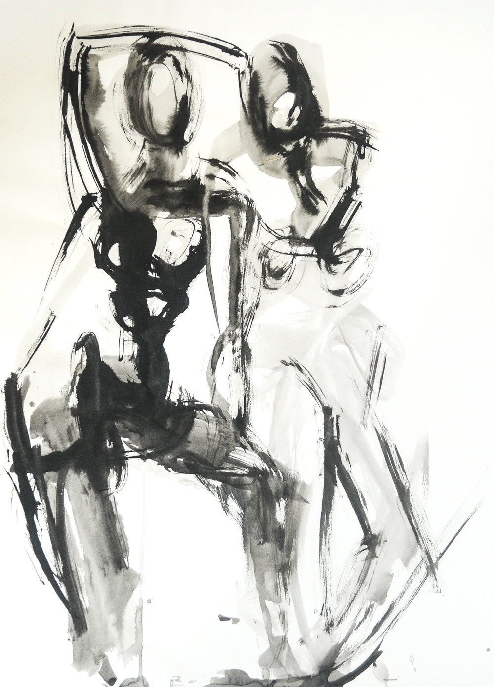"Figure Deux   Ink on Paper   18 x 24"""