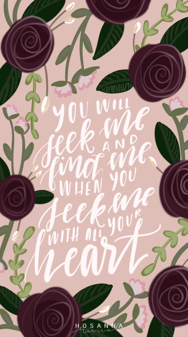 Jeremiah 29:13  Rosie, Peach