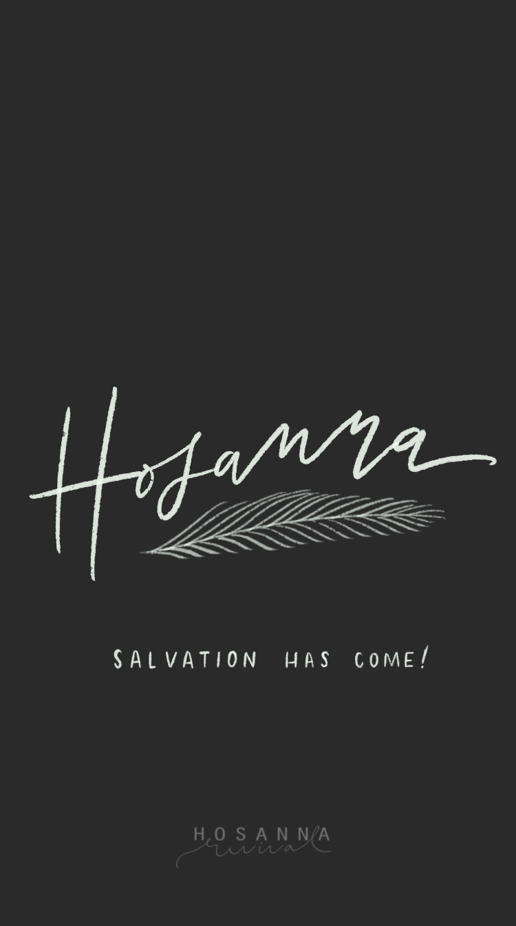 hosanna lock screen- charcoal