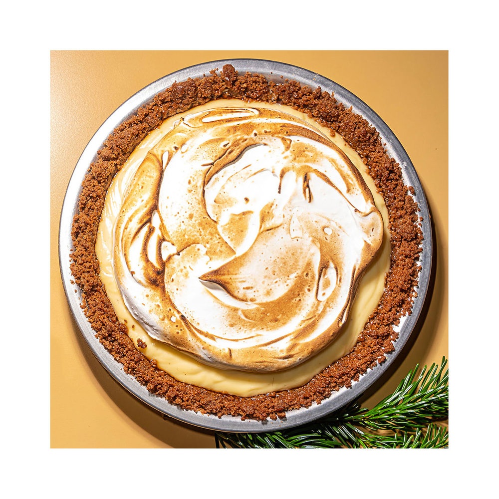EGGNOG PIE BY MEME'S DINER