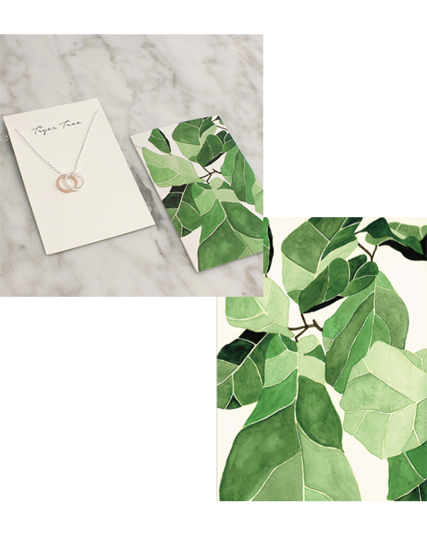 jewelry packaging design for Australian label Tigertree (photo c/o Tigertree)