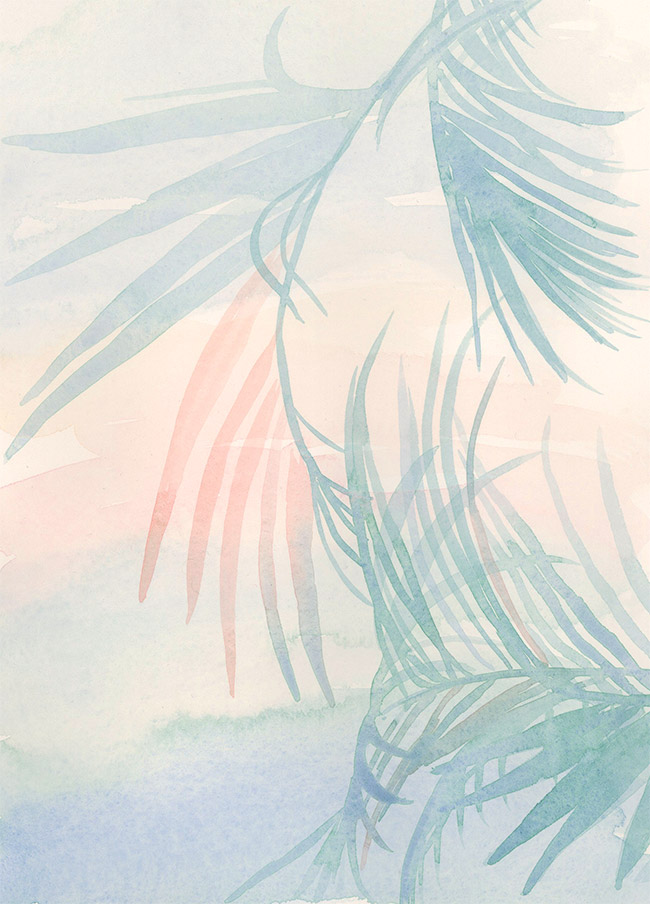 """""""miami vice"""" watercolor on paper, 8"""" x 10"""""""