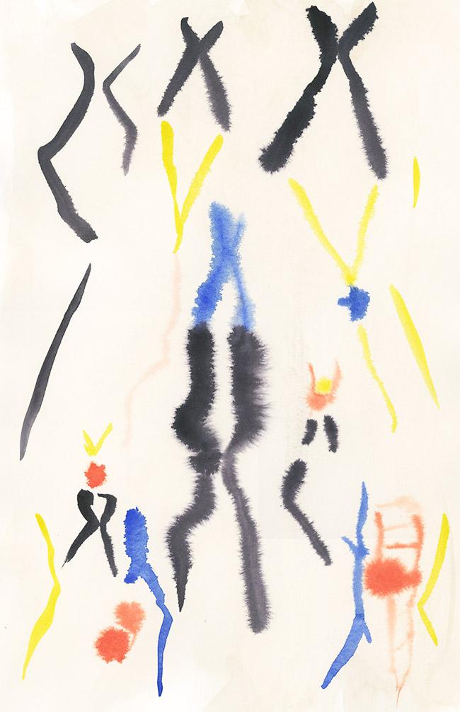 """OOAK"" - Watercolor on Paper, 10"" x 14"""