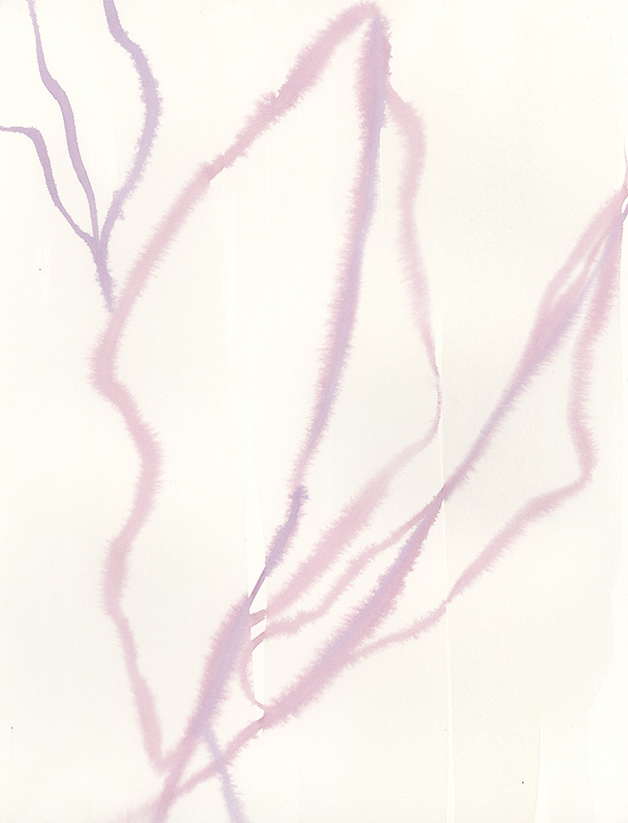 """Contour Leaves I"" - Watercolor on paper, 9"" x 12"" - by Emily Grady Dodge"