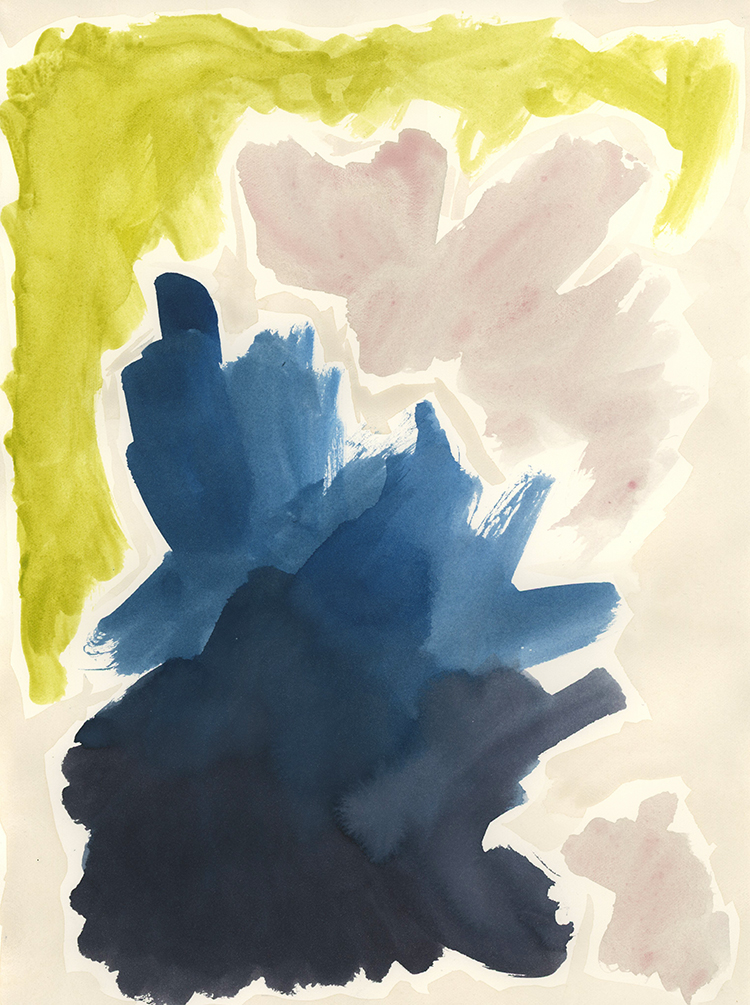 """Rut"" - Watercolor on paper, 9"" x 12"""
