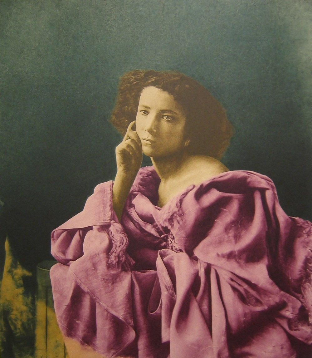 after Nadar, 1864 (Sarah Bernhardt)    55x48, acrylic on canvas, 2004