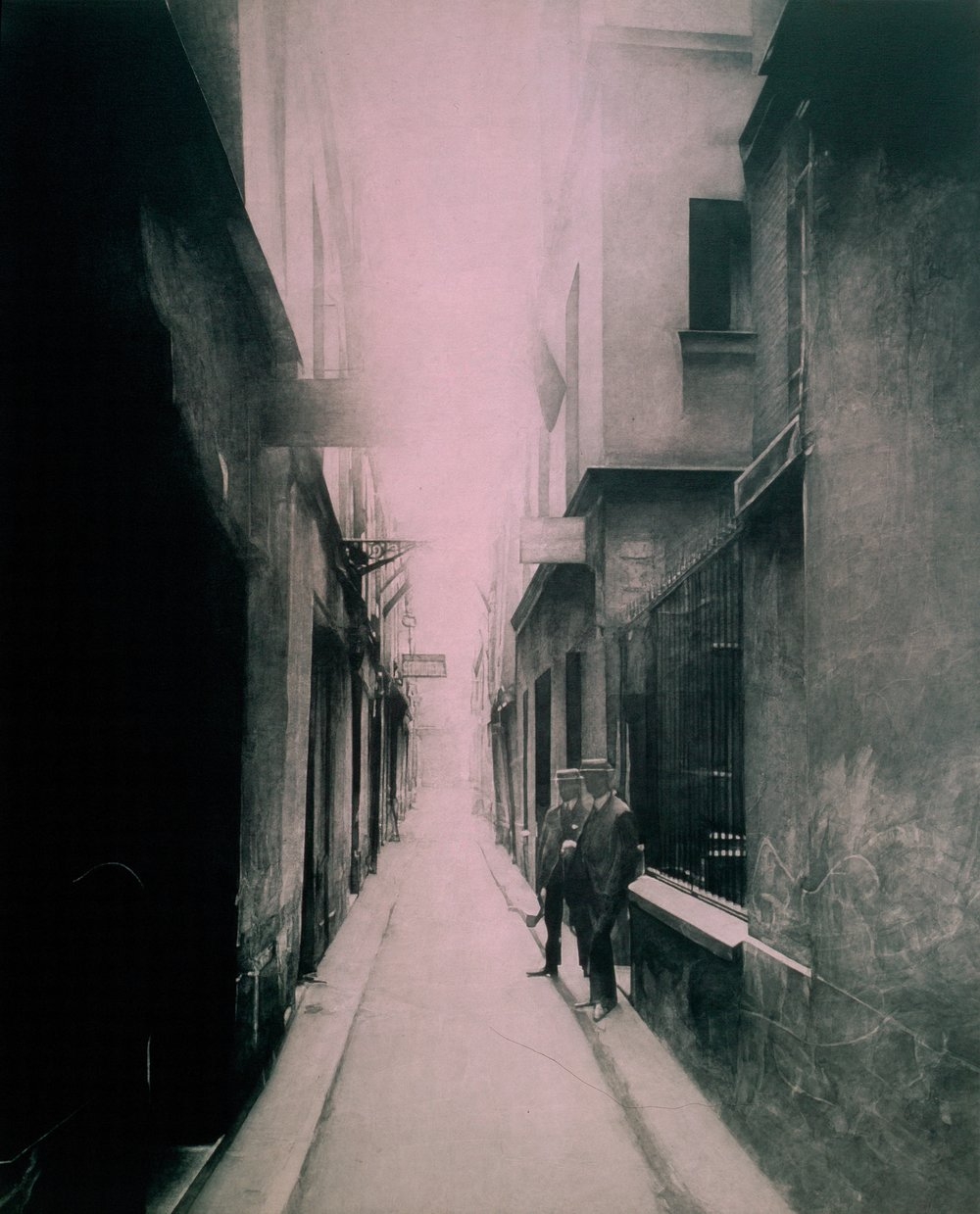 after Atget, 1907 (Impasse Saint-Denis, 177 rue Saint-Denis)    60x48  , acrylic on canvas, 2002